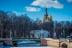 Church of the Savior on Blood Cupolas Royalty Free Stock Images