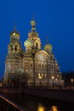 Church of the Savior on blood illuminated. Royalty Free Stock Photos