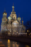 Church of the Savior on blood illuminated. Royalty Free Stock Images