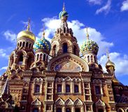 Church of the savior on blood, Russia Saint Petersburg royalty free stock images