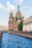 Church of the Savior on blood in Saint-Petersburg Stock Photos