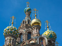 Church of the Savior on Blood, Saint Petersburg, Russia. Famous Church of the Savior on Blood, Saint Petersburg, Russia Royalty Free Stock Photo