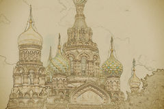Church of the Savior on Blood in Saint-Petersburg, Russia. Royalty Free Stock Image