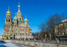 Church of the Savior on Blood Stock Photo
