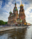 Church of the Savior on Blood. In St. Petersburg, Russia Stock Images
