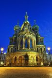 Church Savior on Blood in St-Petersburg, Russia.  Night view. Royalty Free Stock Photography