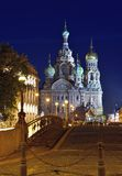 Church Savior on Blood in St-Petersburg, Russia.  Night view. Stock Photography