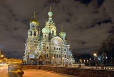 Church Savior on Blood in St-Petersburg, Russia.  Night view. Stock Image