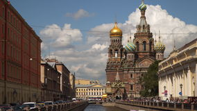 The Church of the Savior on the Blood in St. Petersburg stock video