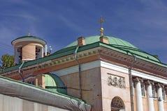 Church of the Savior on Konushennaya Square in Saint-Petersburg city, Russia. View of Church of the Savior on Konushennaya Square in Saint-Petersburg city royalty free stock photo
