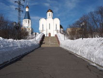Church of the Savior in Murmansk city ,Russia Royalty Free Stock Images