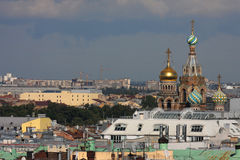 Church of Savior over the roofs of St-Petersburg Royalty Free Stock Photo