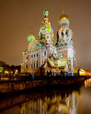 Church of the savior on spilled blood. Or Cathedral of the Resurrection of Christ, in Saint Petersburg, Russia Stock Image