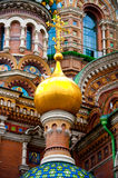Church of the savior on spilled blood. Detail of  the Church of the savior on spilled blood or Cathedral of the Resurrection of Christ, in Saint Petersburg Stock Photo