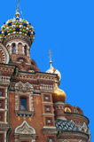 Church of the savior on spilled blood. Detail of the Church of the savior on spilled blood or Cathedral of the Resurrection of Christ, in Saint Petersburg Royalty Free Stock Photos