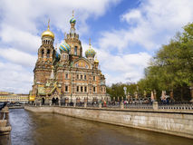 Church of the Savior on Spilled Blood. In Saint Petersburg Royalty Free Stock Photo