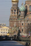 The Church of the Savior on Spilled Blood. The Church of the Savior on Spilled Blood is one of the main sights of St. Petersburg, Russia. Religious Monument Stock Image