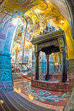 Church of the Savior on Spilled Blood. Canopy over the site of Royalty Free Stock Photo