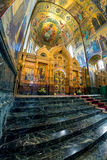 Church of the Savior on Spilled Blood. Central icon case or kio. ST. PETERSBURG, RUSSIA - JULY 14, 2016: Interior of Church of the Savior on Spilled Blood royalty free stock photos