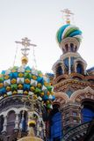 The Church of the Savior on Spilled Blood Stock Images