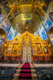 Church of the Savior on Spilled Blood. Inside of Church of the Savior on Spilled Blood Royalty Free Stock Photography