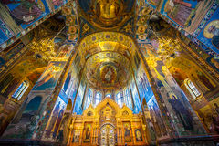 Church of the Savior on Spilled Blood. Inside of Church of the Savior on Spilled Blood Stock Photos