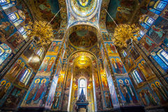 Church of the Savior on Spilled Blood. Inside of Church of the Savior on Spilled Blood Royalty Free Stock Image