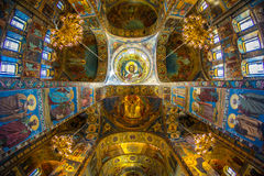 Church of the Savior on Spilled Blood. Inside of Church of the Savior on Spilled Blood Royalty Free Stock Photos