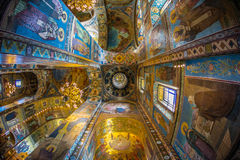 Church of the Savior on Spilled Blood. Inside of Church of the Savior on Spilled Blood Stock Images