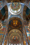 The Church of the Savior on Spilled Blood. Inside The Church of the Savior on Spilled Blood, Russia, St. Petersburg Stock Image