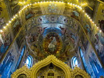 Church of the Savior on Spilled Blood, interior. Interior of the Church of the Savior on Spilled Blood, St. Petersburg, Russia Royalty Free Stock Photography