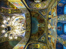 Church of the Savior on Spilled Blood, interior. Interior of the Church of the Savior on Spilled Blood, St. Petersburg, Russia Stock Photos