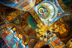 Church of the Savior on Spilled Blood interior in St petersburg, Russia Royalty Free Stock Photo