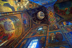 Church of the Savior on Spilled Blood interior Royalty Free Stock Photos