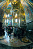 Church of the Savior on Spilled Blood. Interior. Royalty Free Stock Image