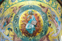 Church of the Savior on Spilled Blood. Mosaic above the central Stock Image
