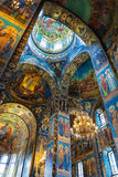 Church of the Savior on Spilled Blood. Mosaic on the arches of Royalty Free Stock Images
