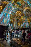 Church of the Savior on Spilled Blood. Numerous tourists admire Stock Image