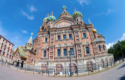 The Church of the Savior on Spilled Blood is one of the main sig Royalty Free Stock Photos