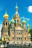 Church of the Savior on Spilled Blood in Saint Petersburg, Russi Stock Photo