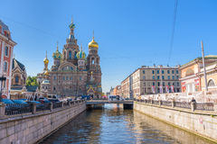 Church of the Savior on Spilled Blood in Saint Petersburg, Russi. A Stock Images