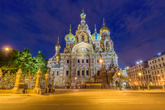 Church of the Savior on Spilled Blood in Saint Petersburg, Russi. A Stock Photo