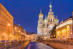 Church of the Savior on Spilled Blood in Saint Petersburg, Russi. A Royalty Free Stock Photography