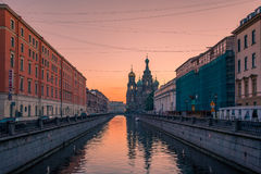 Church of the Savior on Spilled Blood in Saint Petersburg, Russi. A Stock Photos