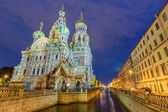 Church of the Savior on Spilled Blood. In Saint Petersburg, Russia Royalty Free Stock Photo