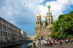 Church of the Savior on Spilled Blood in Saint Petersburg. SAINT PETERSBURG, RUSSIA AUGUST 7, 2014 Church of the Savior on Spilled Blood in Saint Petersburg is Royalty Free Stock Photo