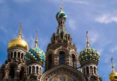 Church of the Savior on Spilled Blood. In St. Peterburg Royalty Free Stock Photo