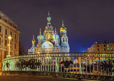 Church of the Savior on Spilled Blood in St. Petersburg Stock Photos