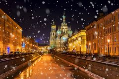 Church of the Savior on Spilled Blood in St. Petersburg Stock Photo