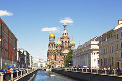 Church of savior on Spilled Blood Royalty Free Stock Images